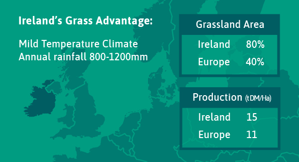 Ireland's Grass Advantage: Mild Temperature Climate Annual rainfall 800-1200mm
